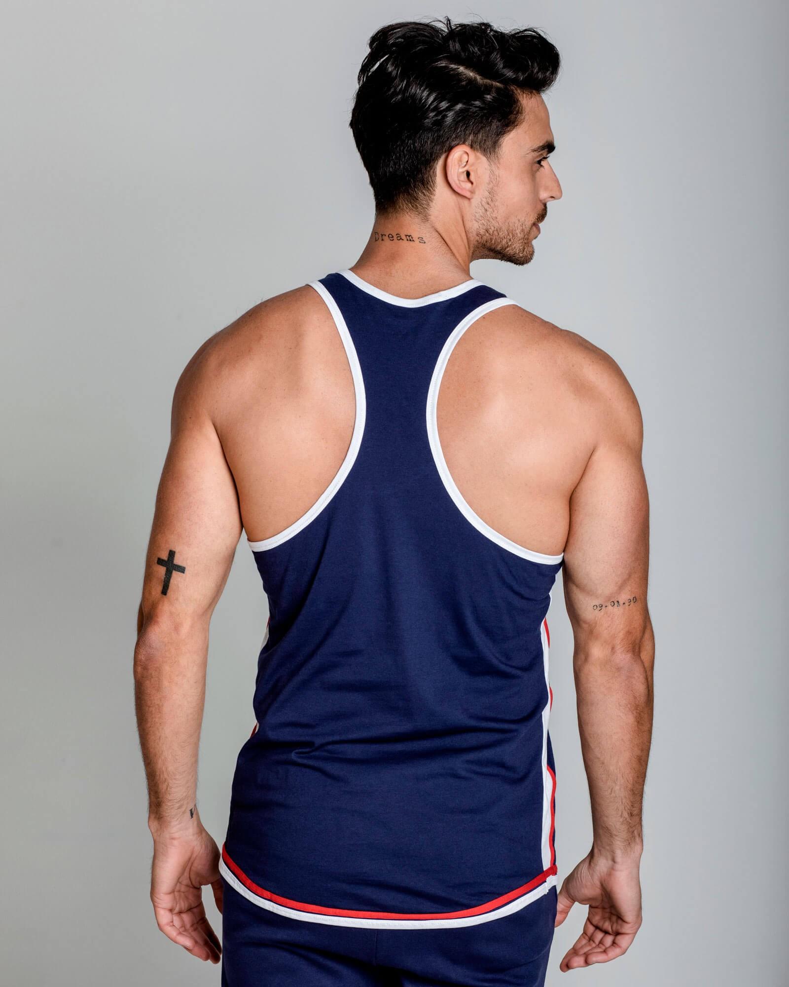 Camiseta sin mangas slim fit. 100% Algodón. Ropa de deporte estilo urbano ELIU streetwear.