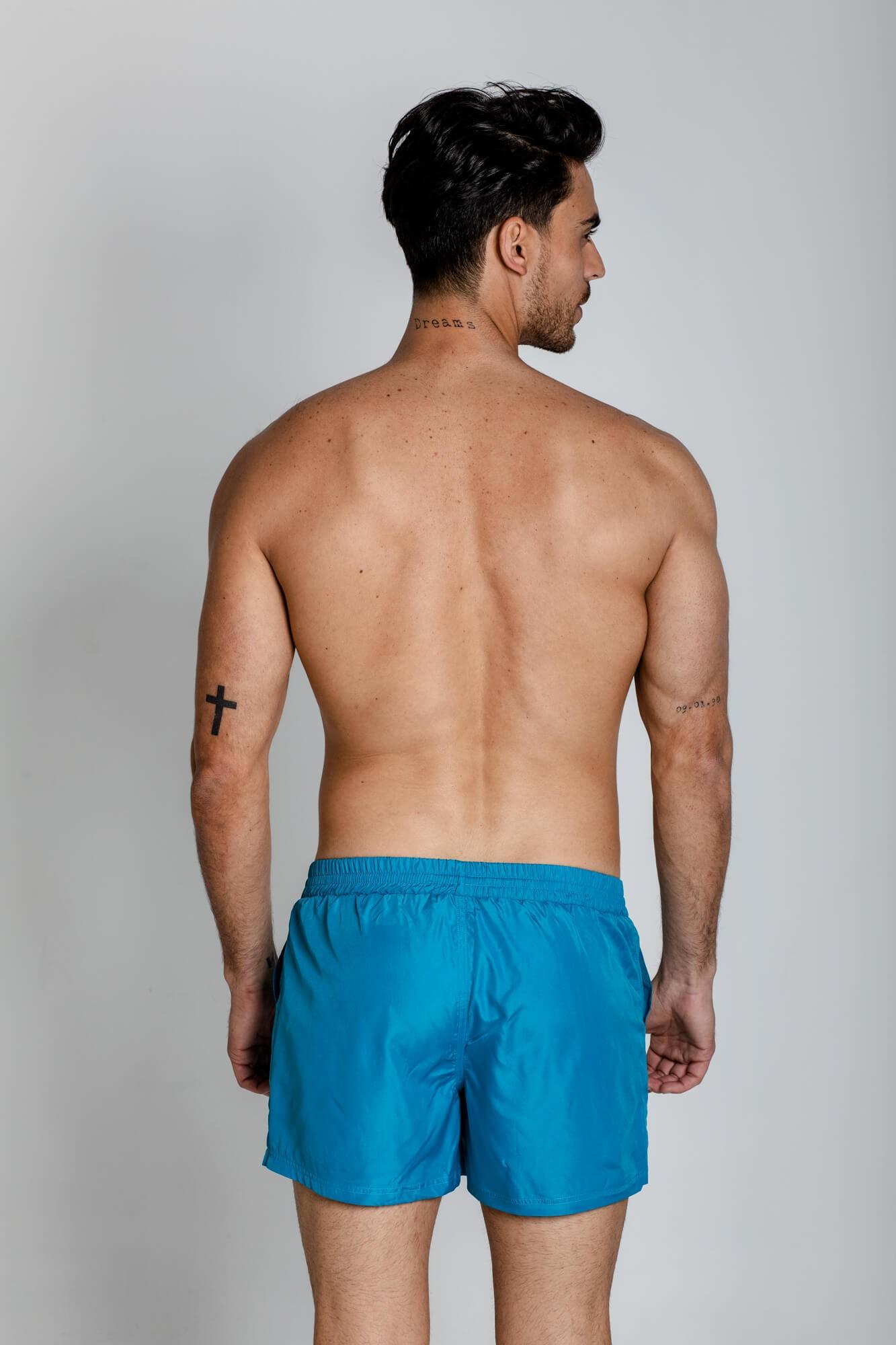 Bañador classic azul royal para hombre. De secado rápido, con logo ELIU bordado en la pierna. ELIU Bañadores