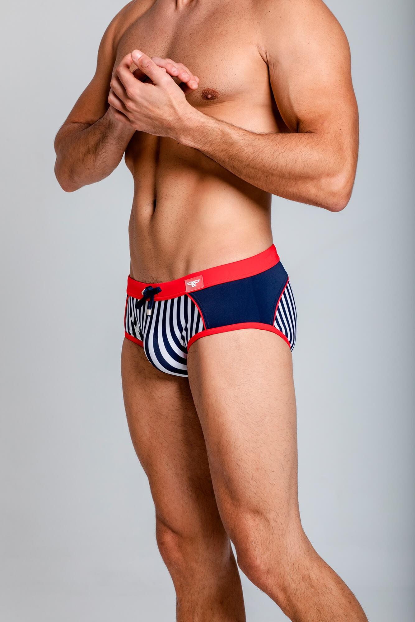 BañadorSailor Yoke Swim Brief para hombre. Estilo urbano de la marca ELIU streetwear.