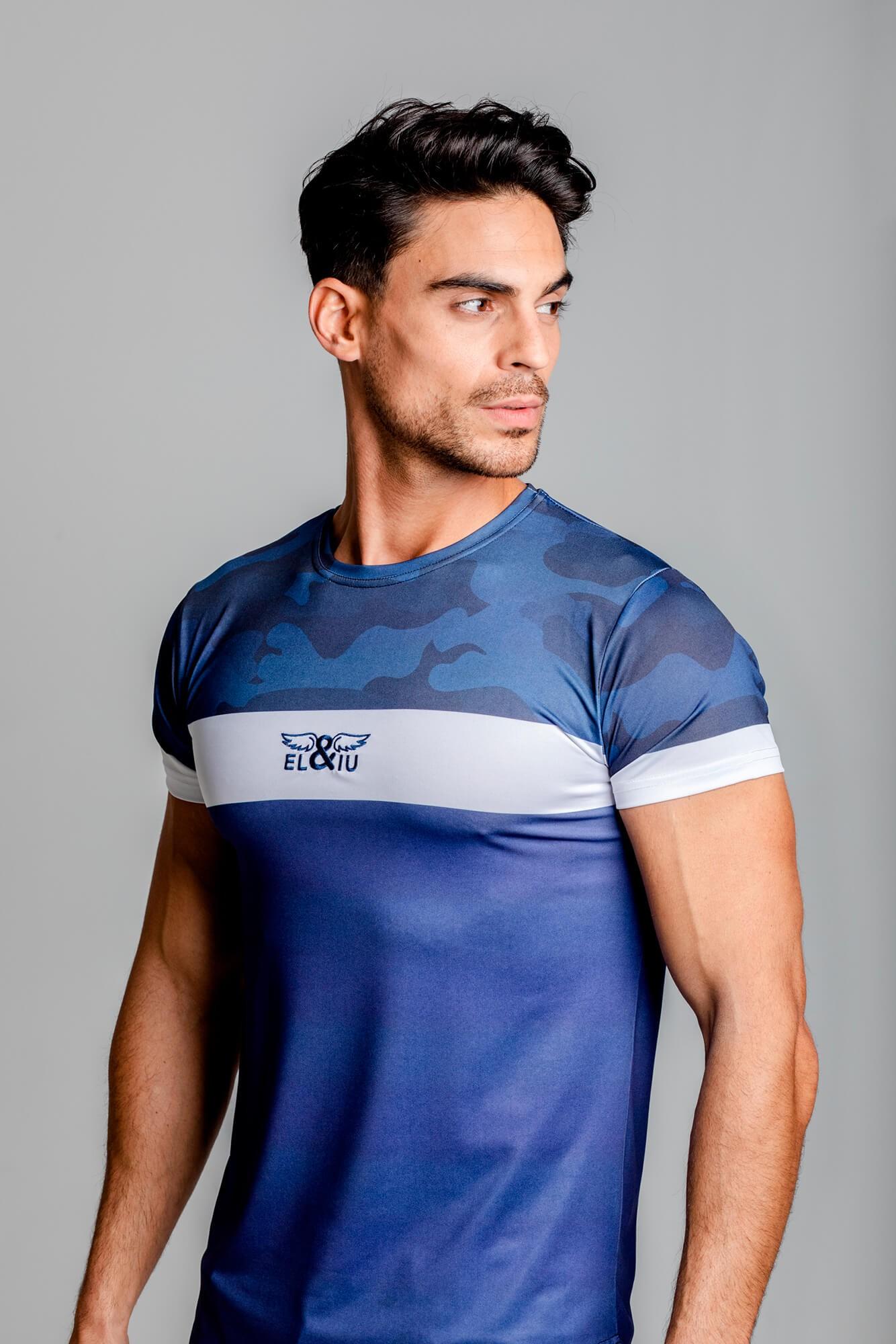 Camiseta Camo Chest, estampado camo y cuello redondo. Estilo urbano marca ELIU streetwear.