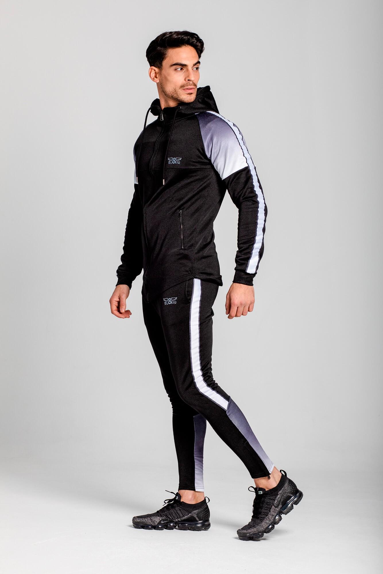 Sudadera deportiva, slim fit y 100% algodón. Estilo urbano de la marca ELIU, moda casual y urbana.
