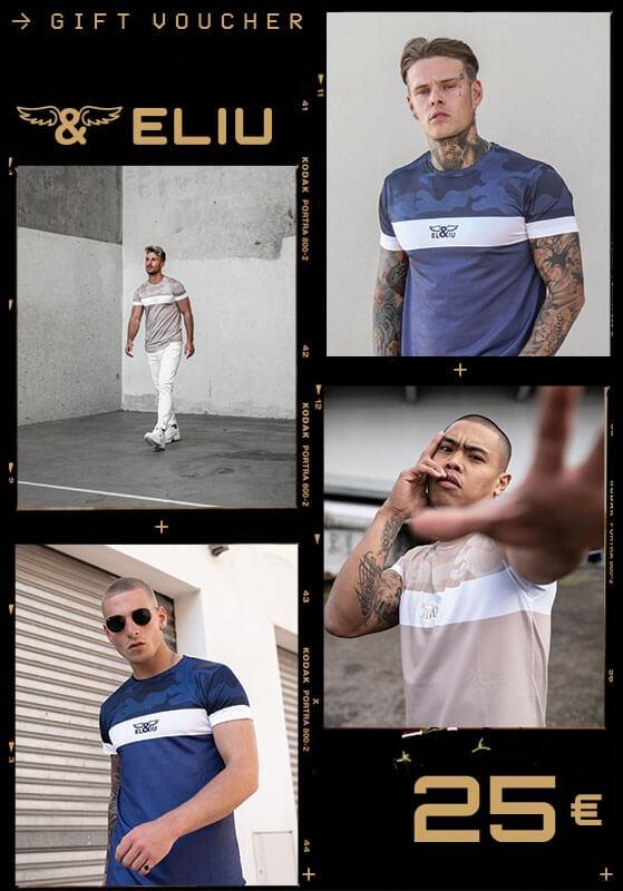 Eliu Clothing Tarjeta Regalo 25 €. Estilo casual y urbano de lujo para hombre.