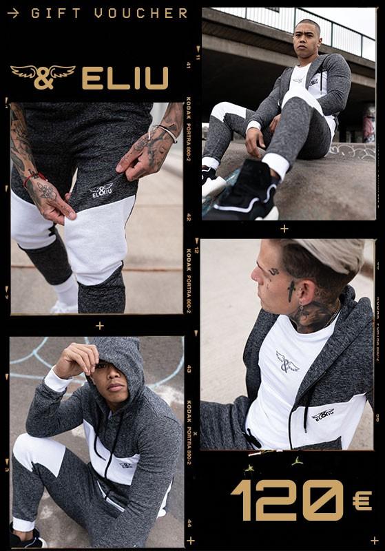 Eliu Clothing Tarjeta Regalo 120 €. Estilo casual y urbano de lujo para hombre.