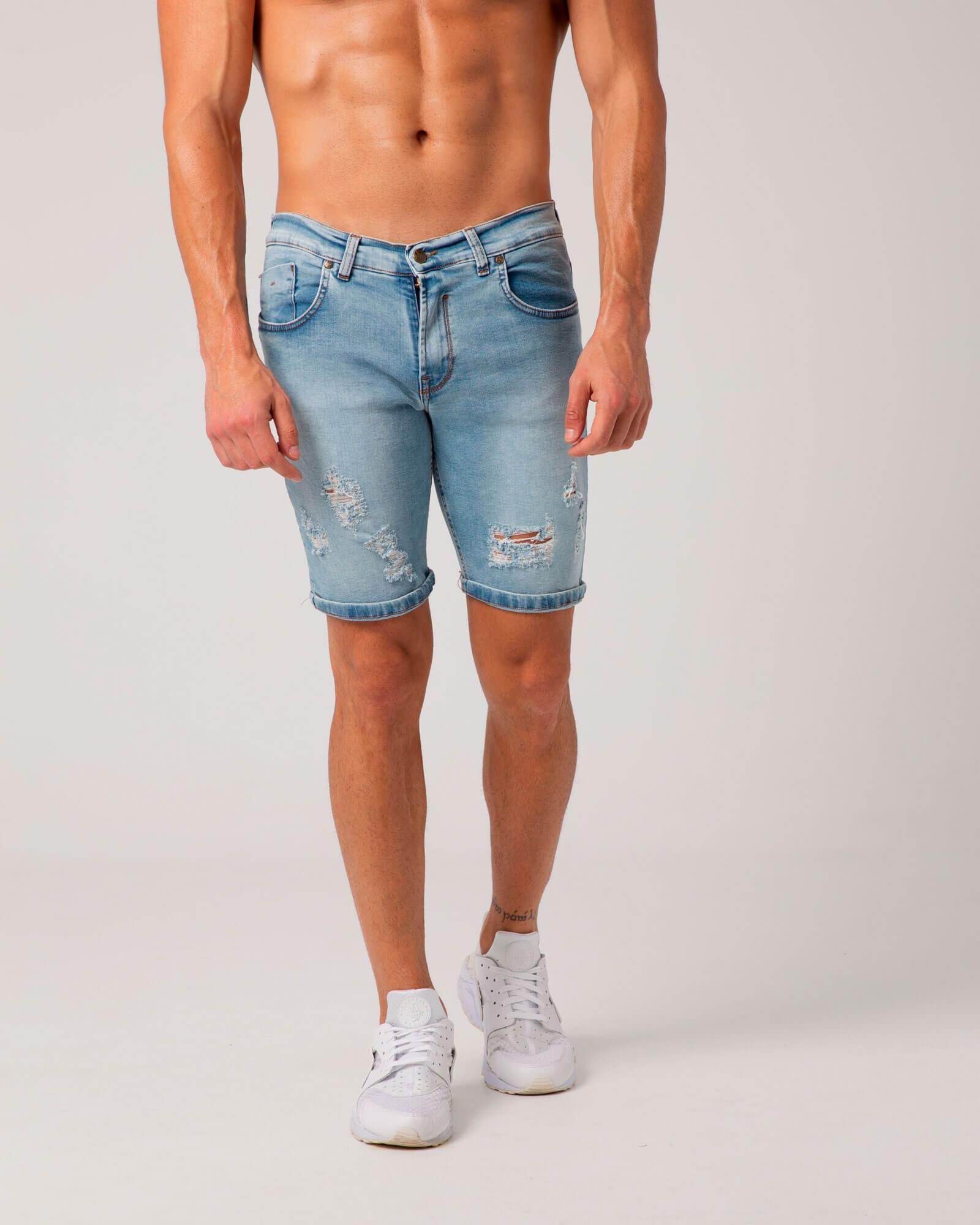 Short Jeans Rotos de Eliu. Estilo urbano y streetwear para hombre ELIU.