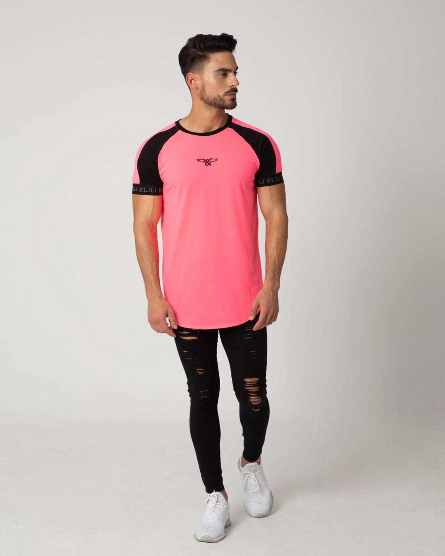 Camiseta Duo Neon de la marca ELIU. Slim fit. Moda para hombres de estilo urbano ELIU streetwear.