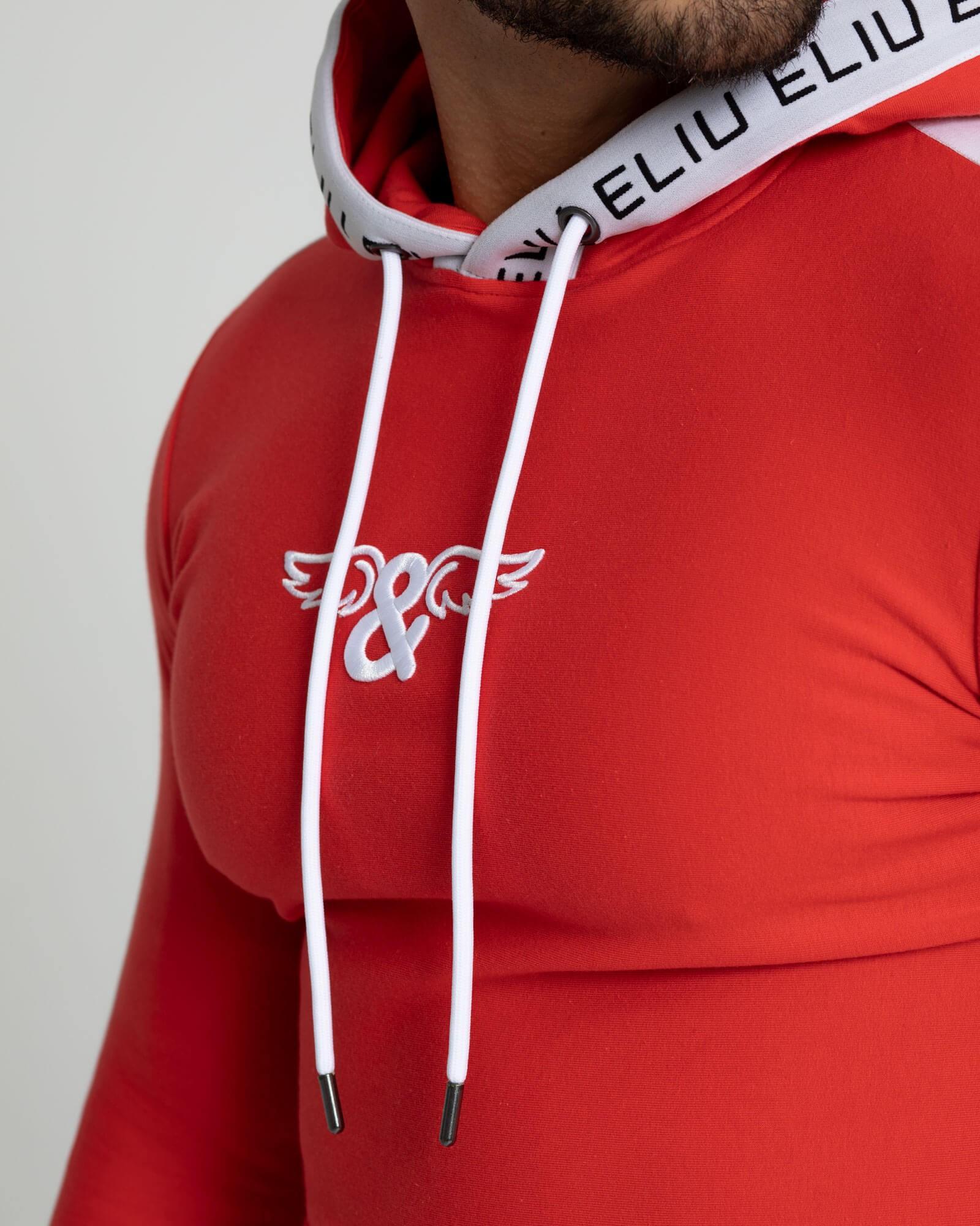 Pantalones de chándal rojos. Estilo urbano de ELIU streetwear.