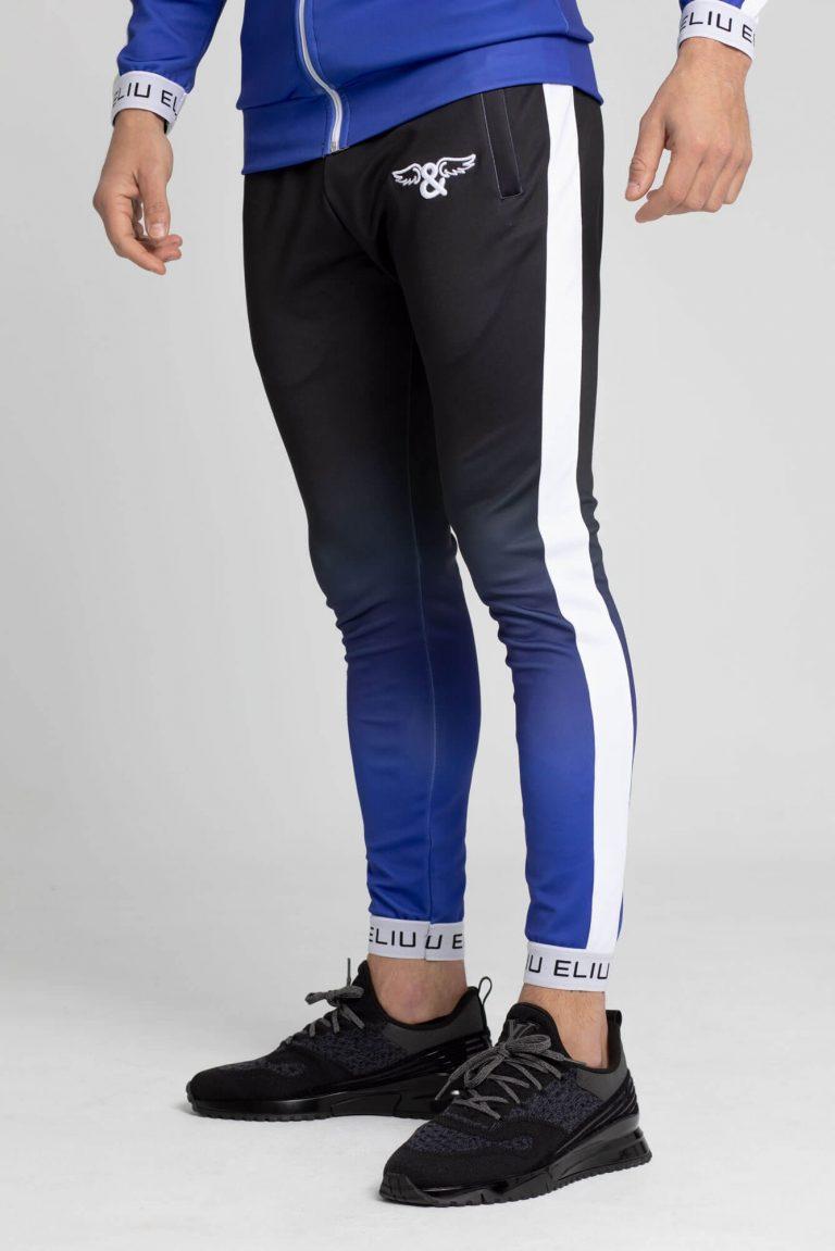 Pantalones de chándal Electric azul marino. Estilo urbano de ELIU streetwear.