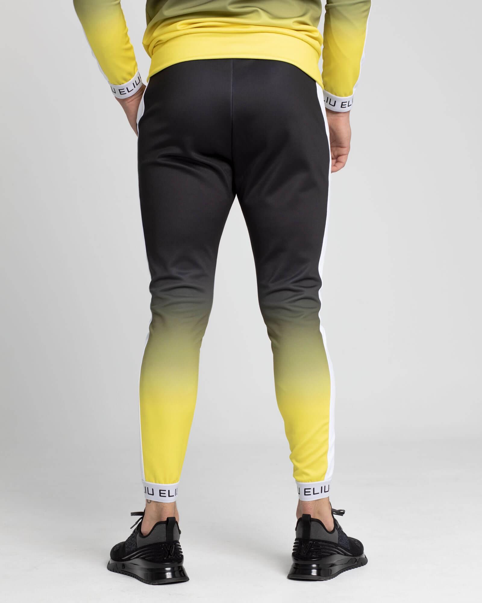 Pantalones de chándal Electric amarillo. Estilo urbano de ELIU streetwear.