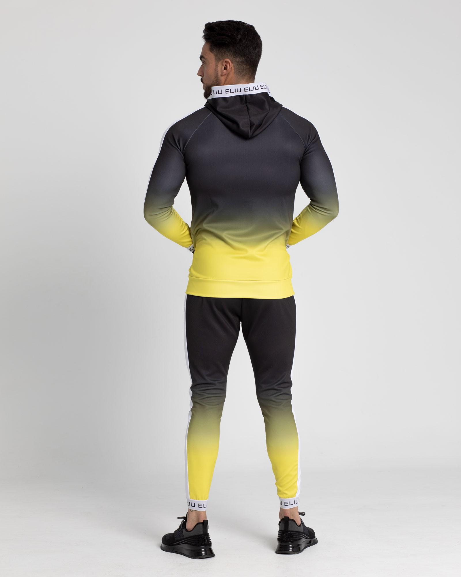 Chaqueta de chándal Electric amarilla. Estilo urbano de ELIU streetwear.