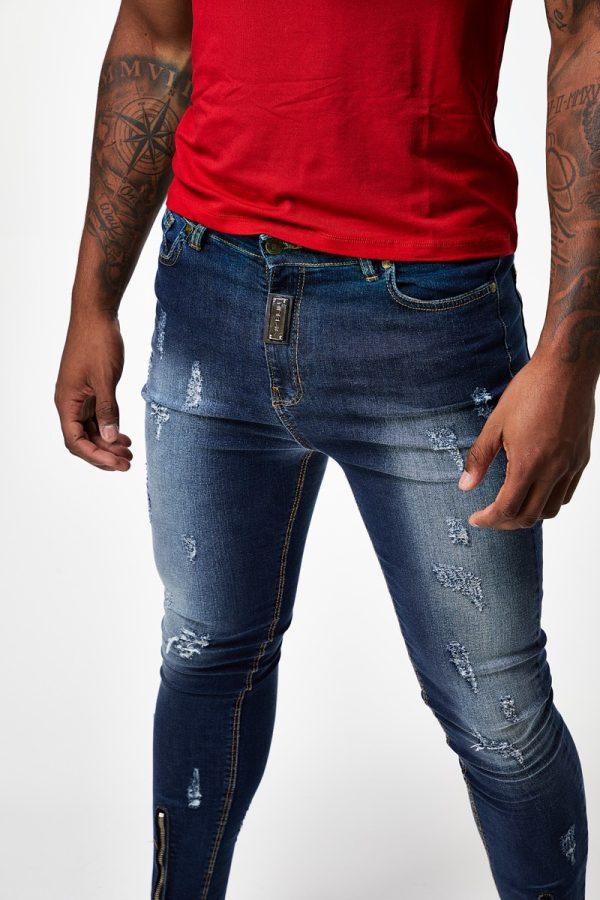 Jeans Rotos Zipper