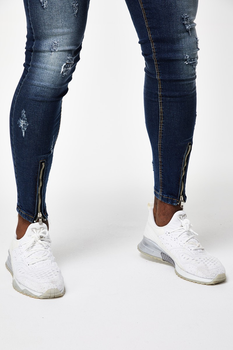 Jeans Rotos Zipper