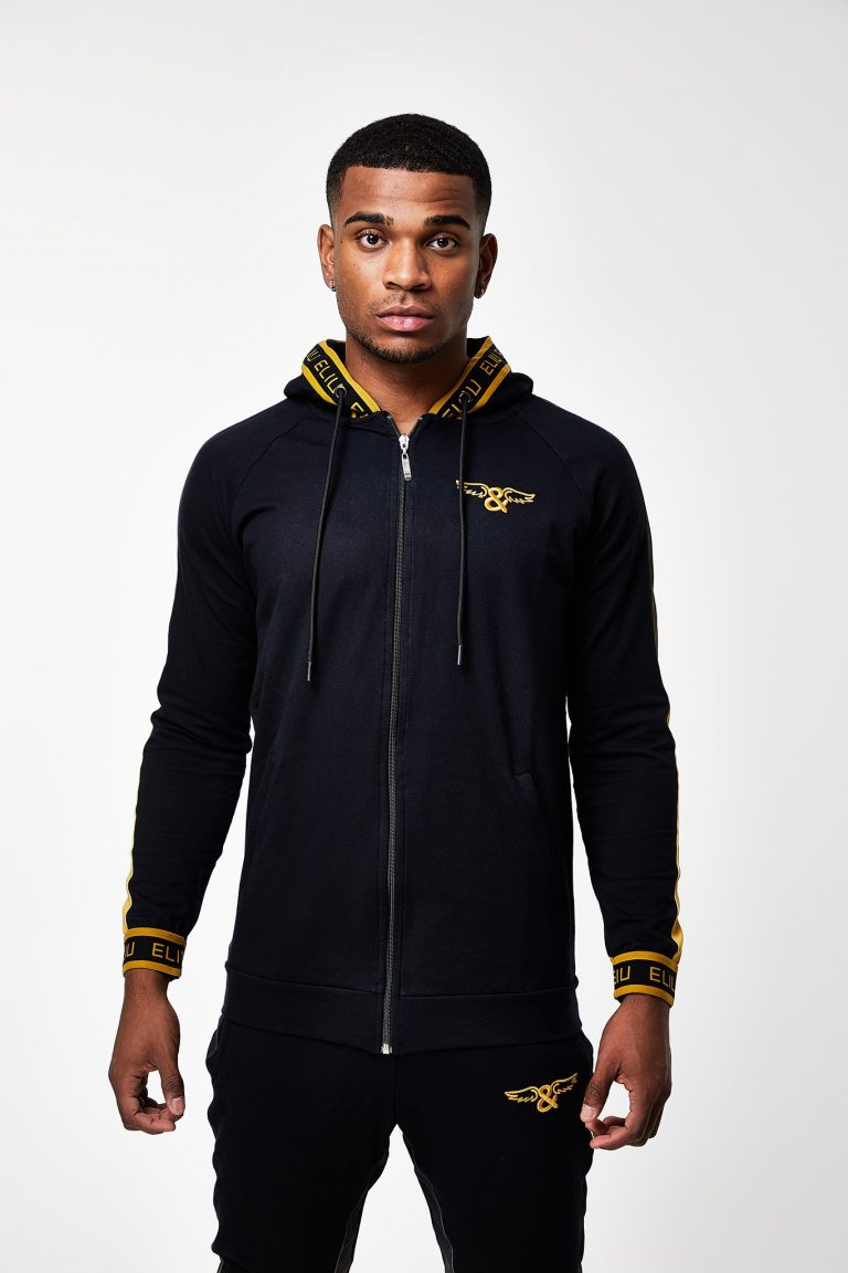 SUNSET GOLD ZIP THROUGH HOODIE