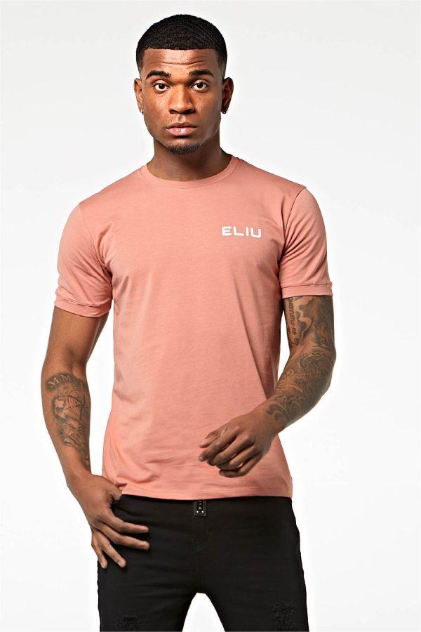 Camiseta básica de algodón coral