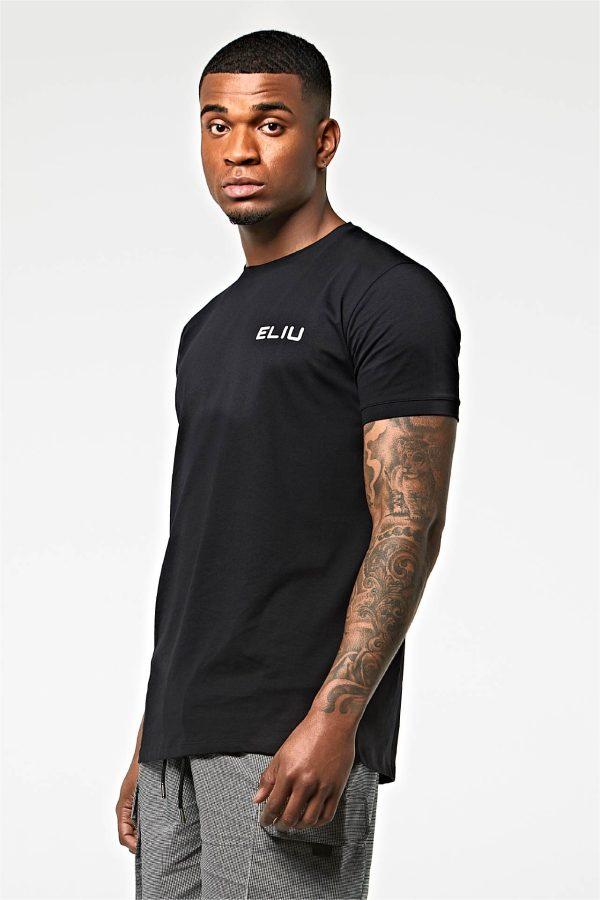 Camiseta básica de algodón negra
