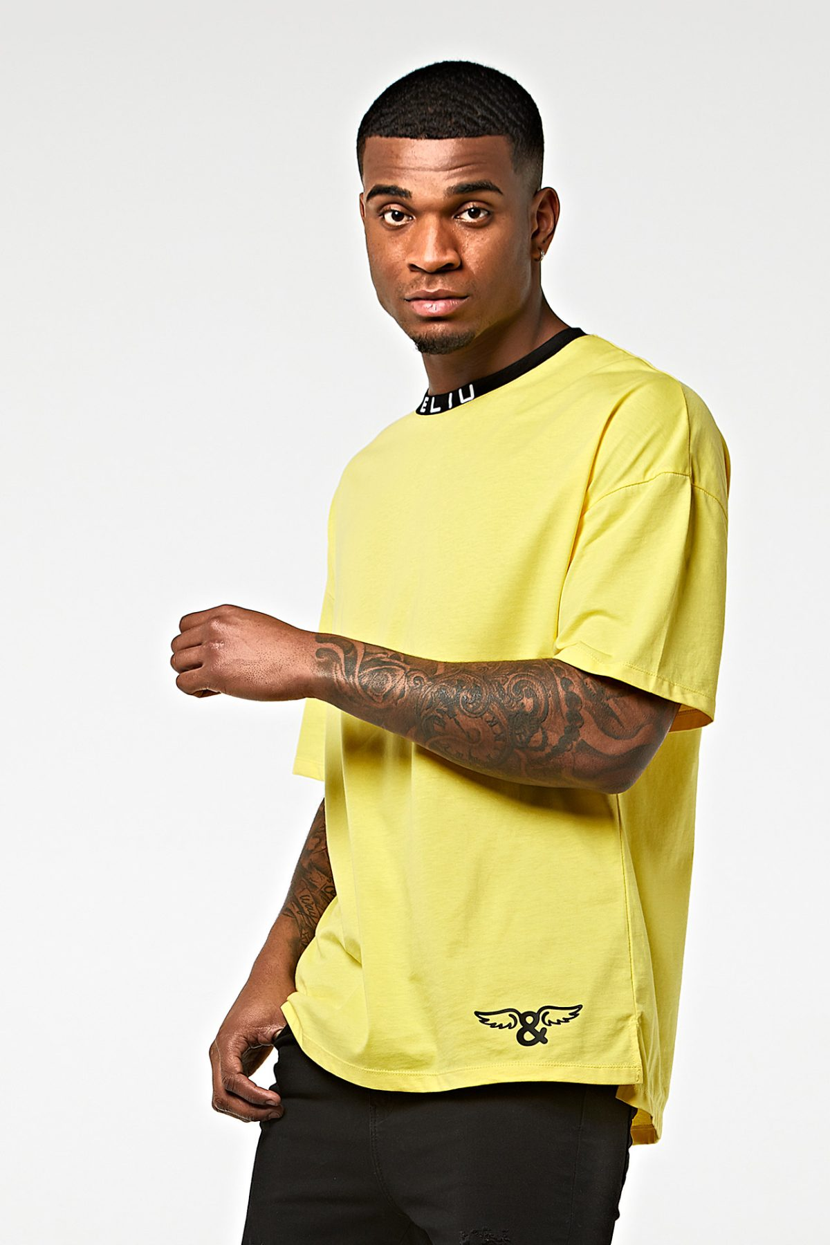 Camiseta oversize punto de algodón