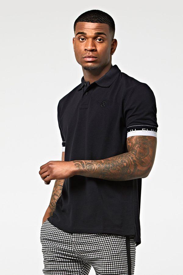 Polo clásico ajustado negro
