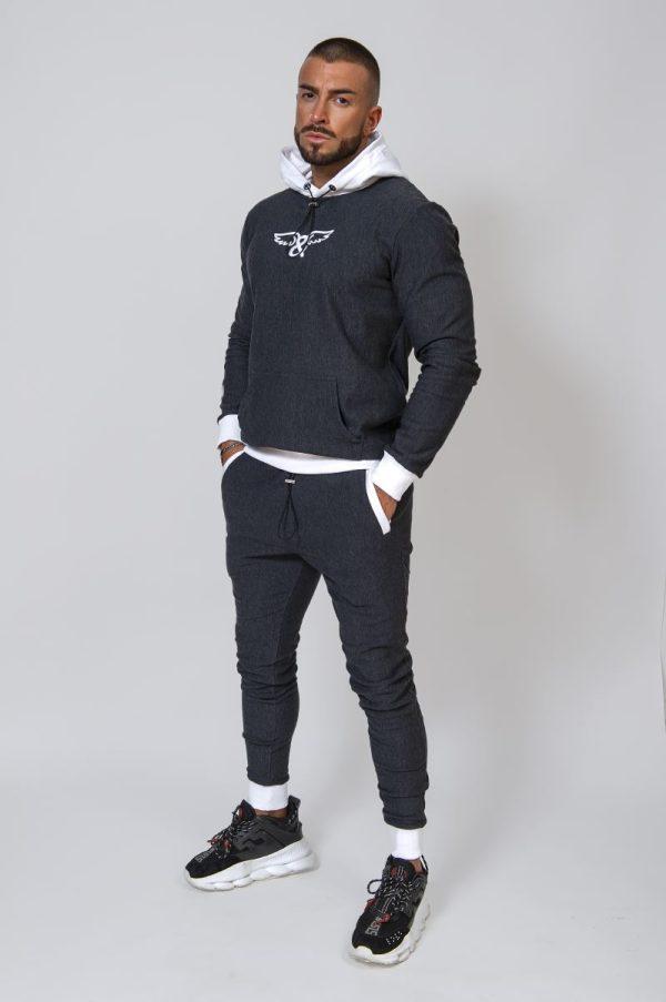 Pantalón de chándal de algodón gris